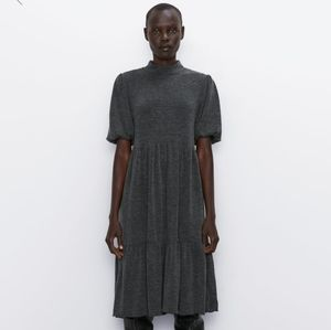 Zara Soft Feel Dress size M in Gray Marl NWT